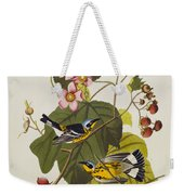 Black And Yellow Warbler Weekender Tote Bag