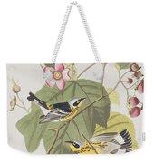 Black And Yellow Warblers Weekender Tote Bag