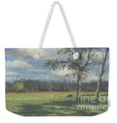 Black Angus Strolling Through The Pasture Weekender Tote Bag
