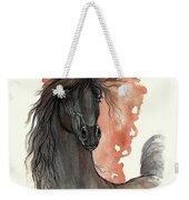 Black Arabian Horse 2013 11 13 Weekender Tote Bag