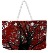 Black Bark Red Tree Weekender Tote Bag