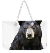 Black Bear Weekender Tote Bag by Amy Hamilton