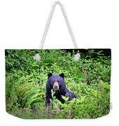 Black Bear Eating His Veggies Weekender Tote Bag