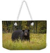 Black Bear In The Grass Weekender Tote Bag