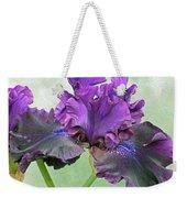 Black Bearded Iris Weekender Tote Bag