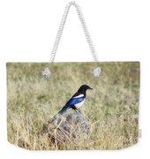 Black-billed Magpie Weekender Tote Bag