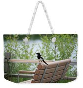 Black-billed Magpie Pica Hudsonia Weekender Tote Bag