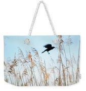 Black Bird In Cat Tails Weekender Tote Bag