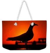 Black Bird Red Sky Weekender Tote Bag