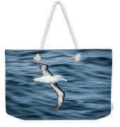 Black-browed Albatross Gliding Over Deep Blue Waves Weekender Tote Bag