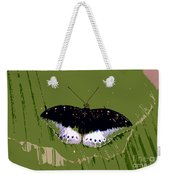 Black Butterfly Weekender Tote Bag