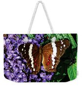 Black Butterfly On Heliotrope Weekender Tote Bag