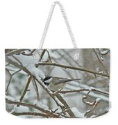 Black Capped Chickadee - Poecile Atricapillus Weekender Tote Bag