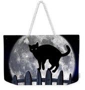 Black Cat And Full Moon 3 Weekender Tote Bag