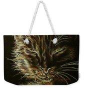 Black Cat Drawing Weekender Tote Bag