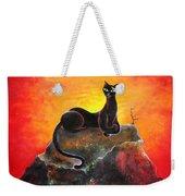 Black Cat. Mistress Of Diamond Mountain Weekender Tote Bag
