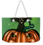 Black Cat N Pumpkin Weekender Tote Bag