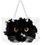 Black Cat, Yellow Eyes Weekender Tote Bag