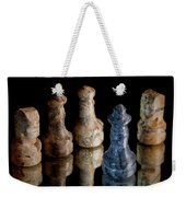 Black Chess King Defeated And Surrounded Weekender Tote Bag