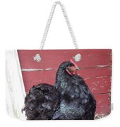 Black Chicken Weekender Tote Bag