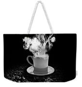Black Coffee Weekender Tote Bag by Stefano Senise