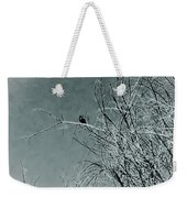 Black Crow White Snow Weekender Tote Bag