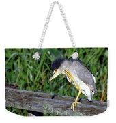 Black Crown Night Heron Scratching Weekender Tote Bag
