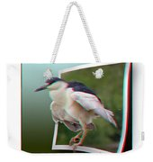 Black Crowned Night Heron - Use Red-cyan 3d Glasses Weekender Tote Bag