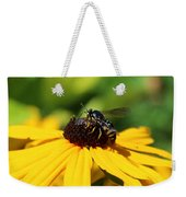 Black Eyed Susan With Wasp Weekender Tote Bag