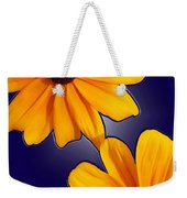 Black-eyed Susans On Blue Weekender Tote Bag