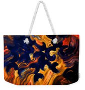 Black Fire Weekender Tote Bag
