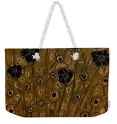 Black Flowers Weekender Tote Bag