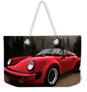 Black Forest - Red Speedster Weekender Tote Bag by Douglas Pittman