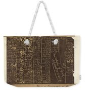 Black Friday, 1869 Weekender Tote Bag