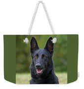 Black German Shepherd Dog Weekender Tote Bag