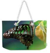 Black Green Tailed Jay 2 Weekender Tote Bag