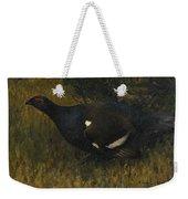 Black Grouse Cock Weekender Tote Bag
