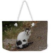 Black Heart Cat Weekender Tote Bag