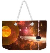 Black Hole Weekender Tote Bag by Corey Ford