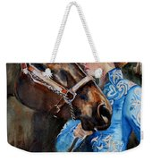 Black Horse And Cowgirl   Weekender Tote Bag