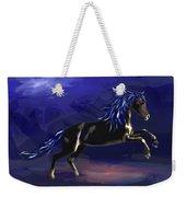 Black Horse At Night Weekender Tote Bag