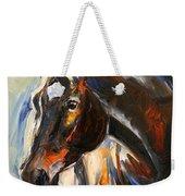 Black Horse Oil Painting Weekender Tote Bag