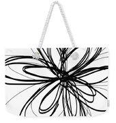 Black Ink Flower 1- Art By Linda Woods Weekender Tote Bag