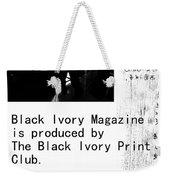 Black Ivory Issue 1 Page 2 Weekender Tote Bag