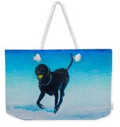 Black Labrador Painting Weekender Tote Bag