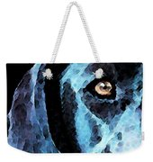 Black Labrador Retriever Dog Art - Hunter Weekender Tote Bag by Sharon Cummings