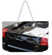 Black Lamborghini Sports Car  Weekender Tote Bag