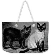 Black Manx And Siamese Cats Weekender Tote Bag