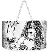 Black Metal Girl. Sofia Metal Queen. Sketch  Weekender Tote Bag