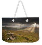 Black Mountains Light Rays Weekender Tote Bag